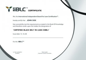 Black Belt in Lean certificate