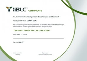 Green Belt in Lean certificate